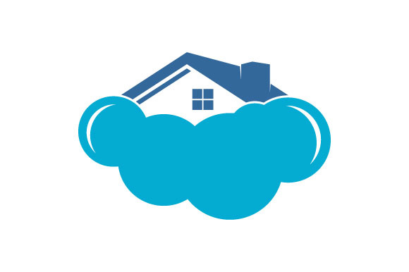 Download Free Modern Cloud Home Vector Icon Logo Graphic By Hartgraphic Creative Fabrica for Cricut Explore, Silhouette and other cutting machines.