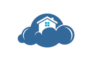 Download Free Modern Cloud Home Vector Icon Logo Graphic By Hartgraphic for Cricut Explore, Silhouette and other cutting machines.