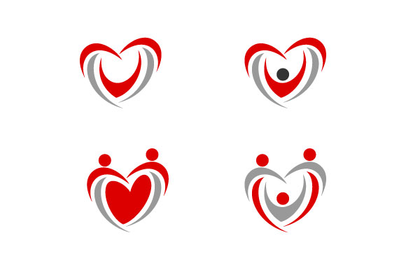 Download Free Modern People Love Heart Care Logo Graphic By Hartgraphic for Cricut Explore, Silhouette and other cutting machines.
