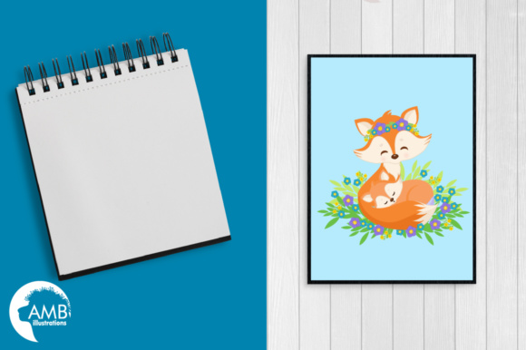 Mom and Pup Fox Graphic Illustrations By AMBillustrations - Image 5