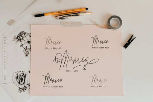 Monica Family Font By Rt Creative Image 2
