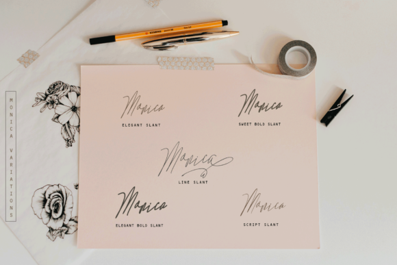 Monica Family Font By Rt Creative Image 3