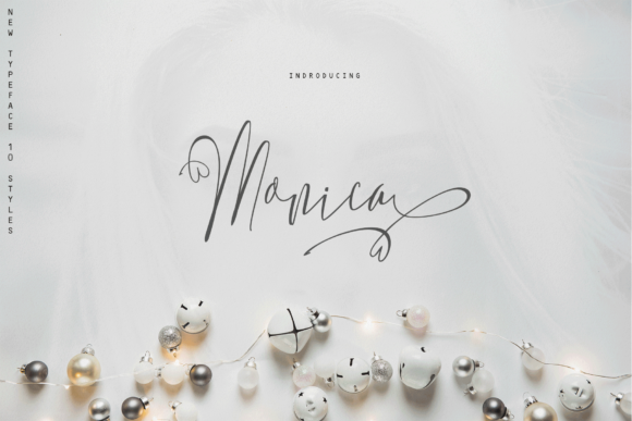 Monica Family Font By Rt Creative Image 1