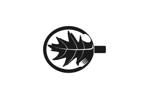 Download Free Mug Leaf Spoon And Fork Logo Designs Inspiration Vector for Cricut Explore, Silhouette and other cutting machines.
