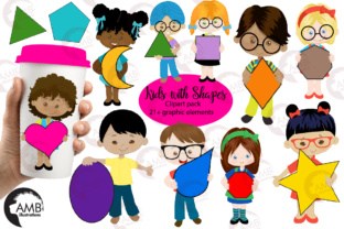 Download Free Multi Cultural Kids With Shapes Clipart Graphic By for Cricut Explore, Silhouette and other cutting machines.