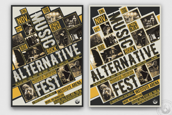 Music Festival Flyer Template V11 Graphic Print Templates By ThatsDesignStore