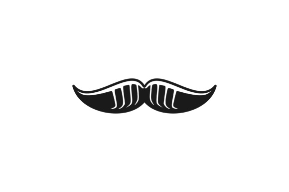 Print on Demand: Mustache Logo Graphic Logos By yahyaanasatokillah