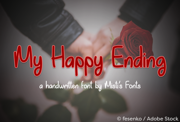 My Happy Ending Script & Handwritten Font By Misti