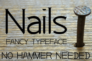 Nails Font By Emily Penley Fonts