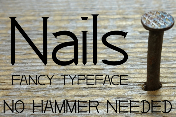 Nails Font By Emily Penley Fonts Image 1
