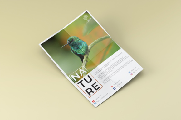 Nature - Elegant Flyer Design Template Graphic Print Templates By harizandy