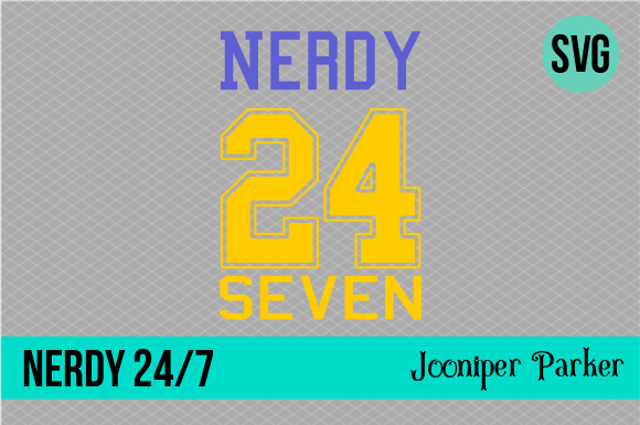 Download Free Nerdy 24 7 Sports Jersey Shirt Svg Graphic By Jooniper Parker for Cricut Explore, Silhouette and other cutting machines.