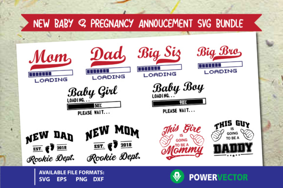 New Baby Bundle Graphic Crafts By PowerVECTOR