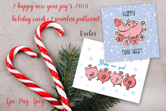 New Year. 2019 Year of the Pig.
