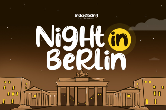 Print on Demand: Night in Berlin Display Font By suzurantype