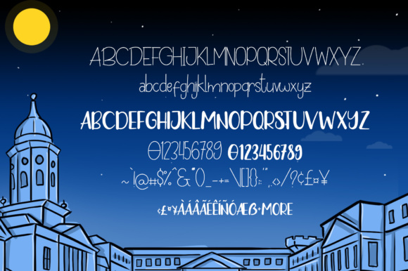 Print on Demand: Night in Dublin Display Font By suzurantype - Image 5