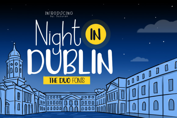 Print on Demand: Night in Dublin Display Font By suzurantype