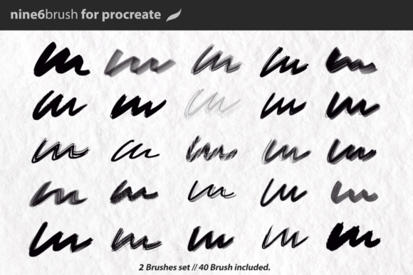 Print on Demand: Nine6brush Procreate Lettering Brushes Graphic Brushes By DK Project - Image 2