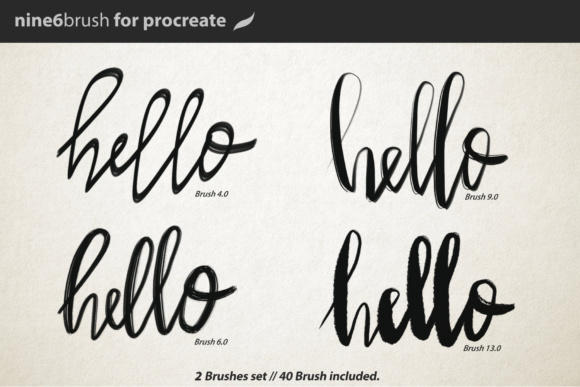 Print on Demand: Nine6brush Procreate Lettering Brushes Graphic Brushes By DK Project - Image 4