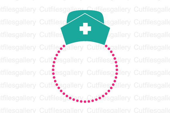 Download Free Nurse Hat Monogram Graphic By Cutfilesgallery Creative Fabrica for Cricut Explore, Silhouette and other cutting machines.