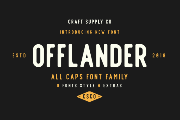 Print on Demand: Offlander Family Sans Serif Font By craftsupplyco