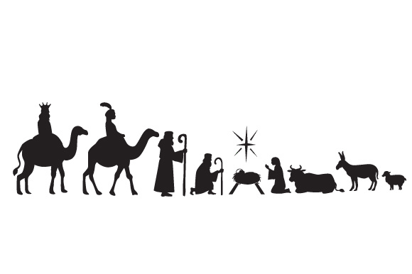 Oh Holy Night Nativity Scene Navidad Craft Cut File Por Creative Fabrica Crafts