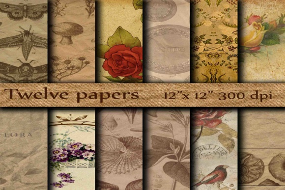 Old Digital Paper Graphic Backgrounds By twelvepapers