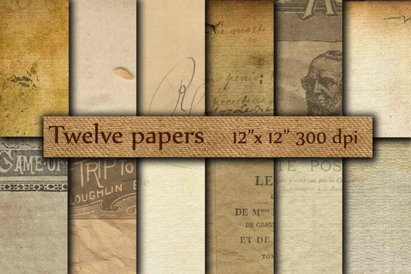 Old Papers Digital Graphic Backgrounds By twelvepapers