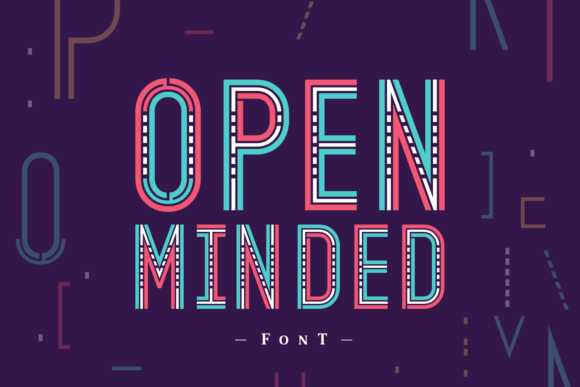 Print on Demand: Open Minded Display Font By Situjuh