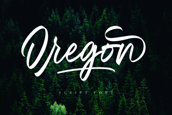 Print on Demand: Oregon Script Script & Handwritten Font By Geranium.co