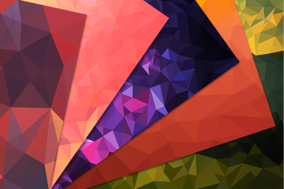 Pack with 10 Polygon Backgrounds Graphic Backgrounds By Vector City Skyline - Image 2