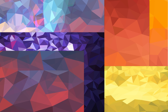 Pack with 10 Polygon Backgrounds Graphic Backgrounds By Vector City Skyline - Image 3
