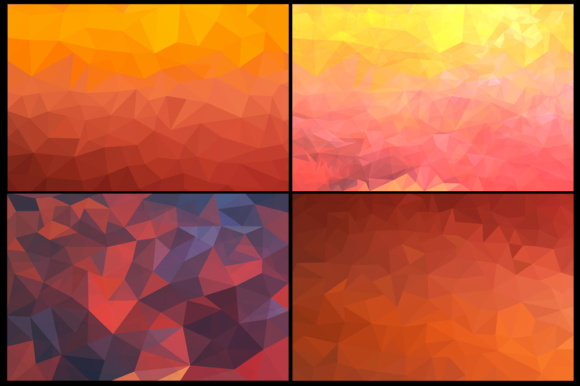 Pack with 10 Polygon Backgrounds Graphic Backgrounds By Vector City Skyline - Image 4