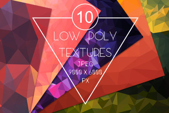 Pack with 10 Polygon Backgrounds Graphic Backgrounds By Vector City Skyline - Image 1