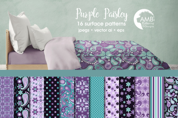 Paisley Papers Graphic Patterns By AMBillustrations