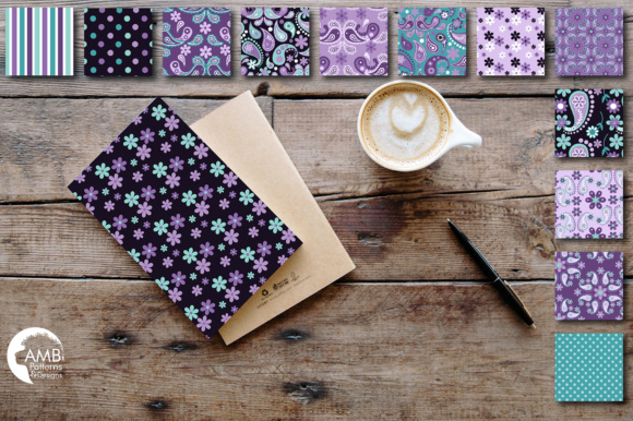 Paisley Papers Graphic Patterns By AMBillustrations - Image 2