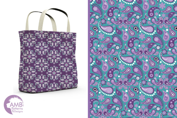 Paisley Papers Graphic Patterns By AMBillustrations - Image 5