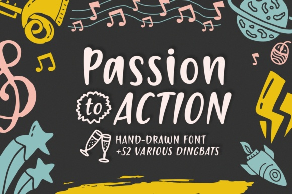 Print on Demand: Passion to Action Script & Handwritten Font By Situjuh