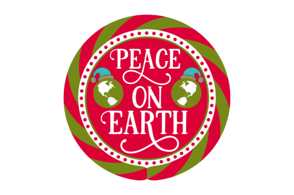 Peace on Earth Christmas Craft Cut File By Creative Fabrica Crafts