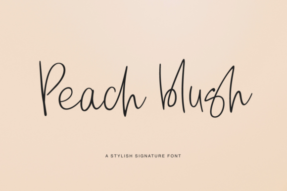 Print on Demand: Peach Blush Script & Handwritten Font By Pasha Larin