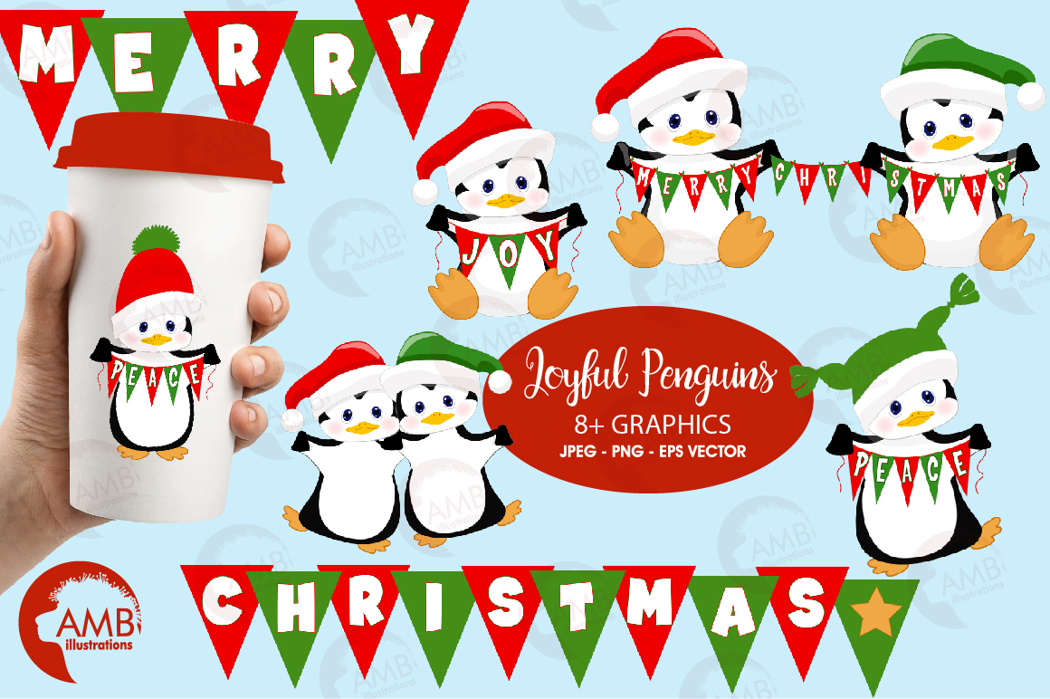 Download Free Penguins Clipart Graphic By Ambillustrations Creative Fabrica for Cricut Explore, Silhouette and other cutting machines.