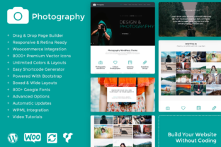 Download Free Photography Responsive Wordpress Theme Graphic By Visualmodo for Cricut Explore, Silhouette and other cutting machines.