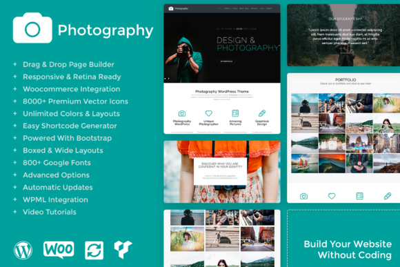 Photography - Responsive WordPress Theme Gráfico Por Visualmodo WordPress Themes