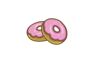 Download Free Piles Of Donuts Logo Designs Grafik Von Yahyaanasatokillah for Cricut Explore, Silhouette and other cutting machines.