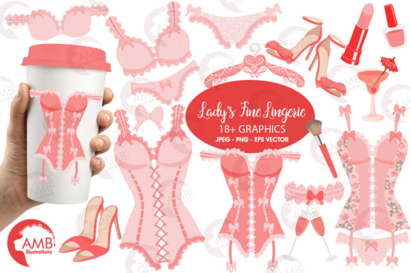 Pink Bachelorette Clipart Graphic Illustrations By AMBillustrations
