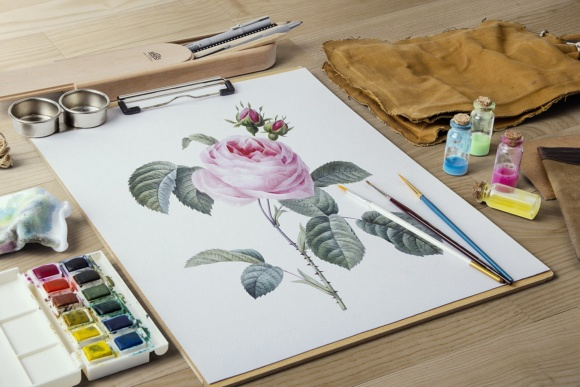 Pink Cabbage Rose Watercolor Graphic Illustrations By Enliven Designs - Image 4