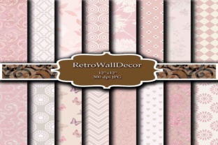 Pink Digital Paper Graphic By retrowalldecor