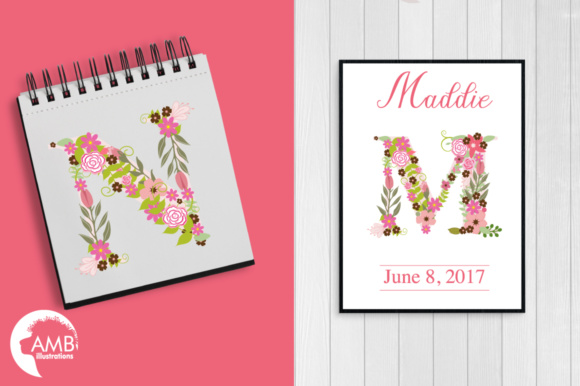 Pink Floral Letters Graphic Illustrations By AMBillustrations - Image 5