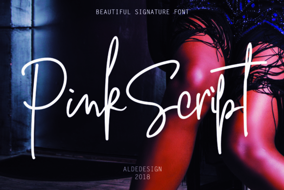 Print on Demand: Pink Script Script & Handwritten Font By aldedesign