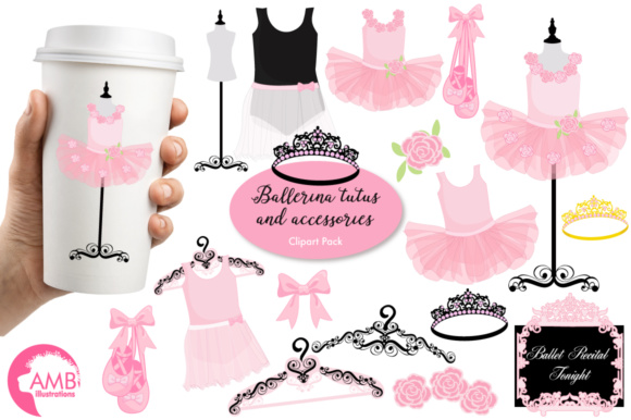 Pink Tutus Clipart Graphic Illustrations By AMBillustrations